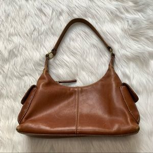 Fossil Vintage Y2K Brown Leather Hobo Purse